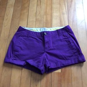 "Old Navy size 0 perfect 3.5"" khaki shorts."
